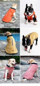 Water Repellent Quilted Dog Coat 3 colours