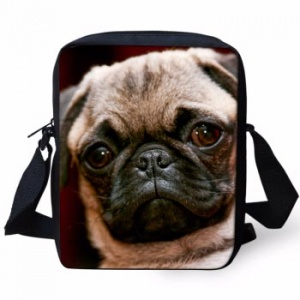cross body bag with pug design
